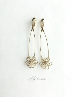 真鍮  flower  pierce/earring