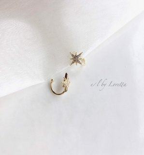 Crystal motif ear cuff