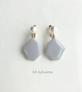 KAKERA pearl pierce/earring �(Gray)