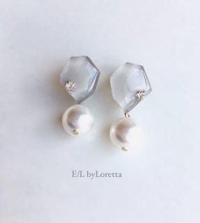 KAKERA pearl pierce/earring �(Beige)