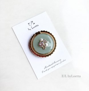 スマホ Ring color bijou �(Mint)