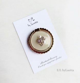 スマホ Ring color bijou �(Ivory)