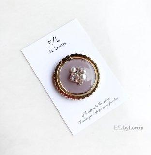 スマホ Ring color bijou �(Lavender)
