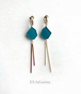KAKERA w stick pierce/earring(Green)