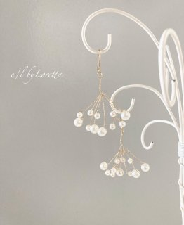 Pearl branch pierce/earring�