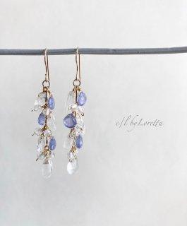 タンザナイト × クリスタル pierce/earring