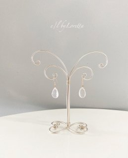Wire art mini Accessory stand(Pearl silver)