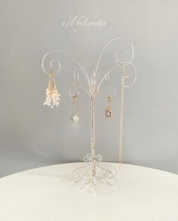 Wire art tree Accessory stand(Pearl silver)