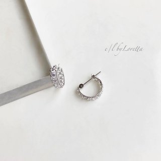 K10 CZ hoop pierce(White Gold)