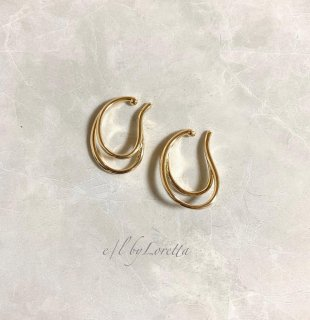 【4/14(wed)21:00〜Order Start.】Metal W line ear cuff