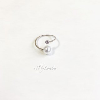 Pearl × crystal folk fingering(Silver)