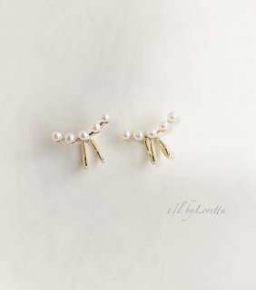 【4/14(wed)21:00〜Order Start.】Pearl curve ear cuff