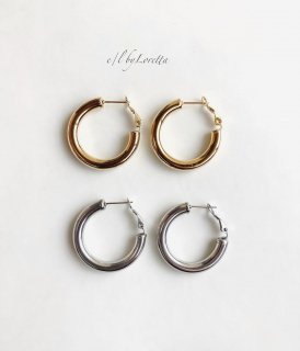 (全2色)Metal chunky hoop pierce
