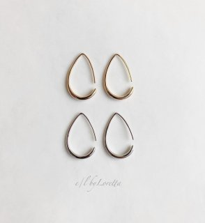 (全2色)Metal shizuku hoop pierce