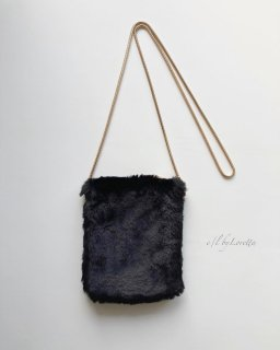 Fur pochette(Black)
