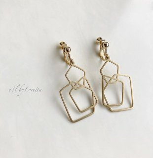 真鍮Polygon pierce/earring �