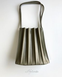 Pleats bag(Khaki)