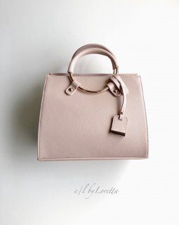 Ring handle mini Boston Bag(Pink)