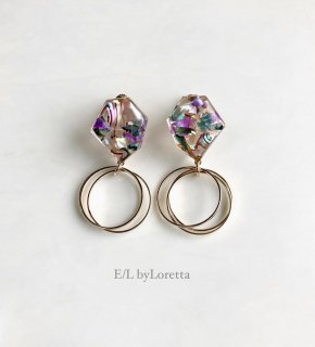 KAKERA shell triple hoop pierce/earring