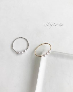 【4/17(sat)21:00〜Order Start.】(全2色)Mini pearl rope Ring