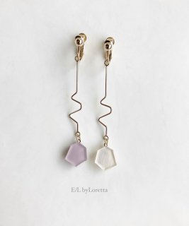 【2/22(mon)21:00〜Order Start.】KAKERA design stick pierce/earring(Lavender)