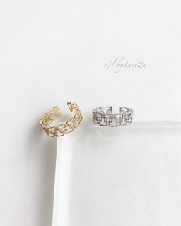 (全2色)Metal mosaic Ring