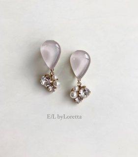 Color shizuku bijou pierce/earring(Smoky Pink)