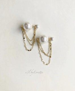 W pearl chain pierce