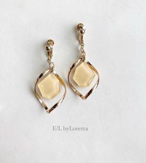 KAKERA color twist hoop pierce/earring(Yellow)  [cc]