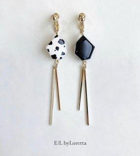 Animal KAKERA w stick pierce/earring(Black × Animal) [cc]