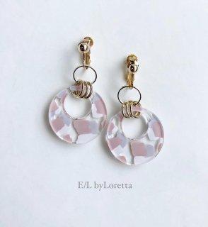 Art mix color w ring pierce/earring(Pink Mix) [cc]