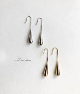 (全2色)Metal long shizuku pierce