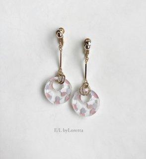 Art mix color circle stick pierce/earring(Pink Mix) [cc]