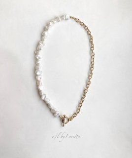 淡水パール × chain necklace�