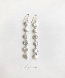 淡水パール long pierce/earring