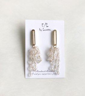 Clear beads tassel pierce