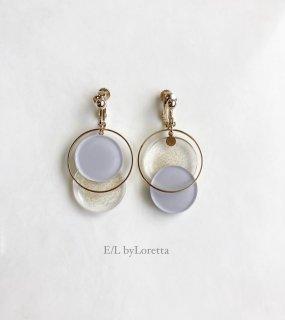 【7/29(thu)21:00〜Order Start.】Asymmetry color pallet pierce/earring(Gray×Glitter) [cc]
