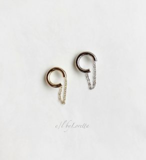 (全2色)Metal chain ear cuff