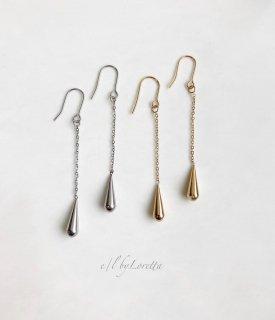 (全2色)Metal drop chain piece/earring