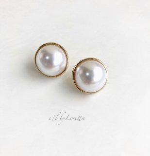 Big pearl pierce/earring