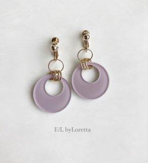 Color w ring pierce/earring(Lavender)