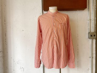 【60% OFF!!】〈Import〉OSVALDO TRUCCHI -SINGER (stand collar shirt) orange stripe- Made in Italy