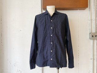 【60% OFF!!】〈Import〉OSVALDO TRUCCHI -PAINT (open collar shirt) dot pattern- Made in Italy
