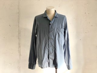 【60%OFF】《Import》OSVALDO TRUCCHI -PAINT (open collar shirt) sax blue- Made in Italy