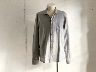 【60%OFF】《Import》OSVALDO TRUCCHI -PAINT (open collar shirt) grey- Made in Italy