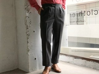 《import》BARRY BRICKEN -Beltless 2pleated Wool Trouser (grey)- Made in USA