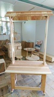 京都府産の杉材を使用したうめや本舗特製屋台セット