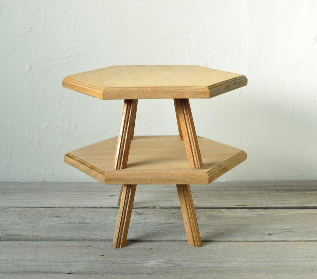 六角形のローテーブル