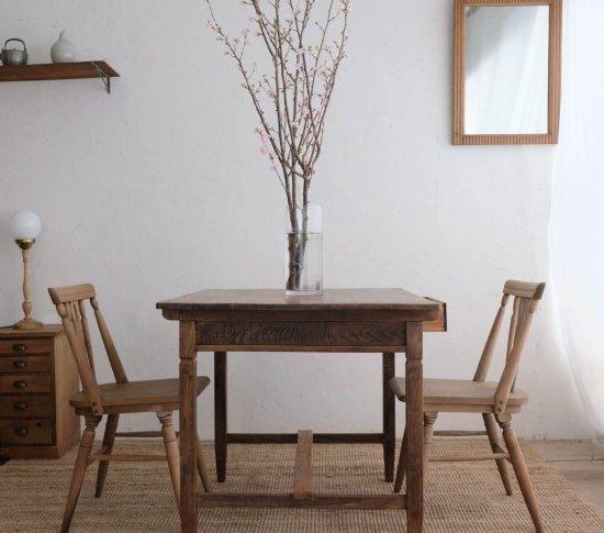 栗のダイニングテーブル(2人掛け)