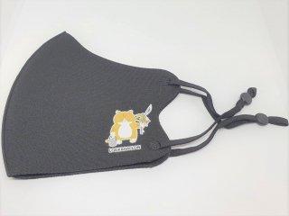 オリジナルマスク/ブラック/紐タイプ【猫ver】